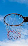 Basketball hoop against blue sky. In the afternoon Royalty Free Stock Images