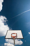 Basketball hoop against  lovely blue summer Royalty Free Stock Photos