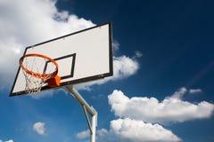 Basketball hoop against  lovely blue summer Royalty Free Stock Image