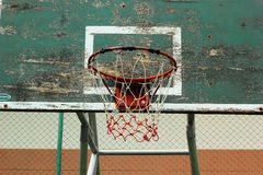 Basketball hoop against the warm summer Stock Photography