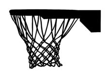 Free Basketball Hoop And Net Vector Silhouette Isolated On White Background. Equipment For Basket Ball Court. Play Sport. Stock Photography - 160533302