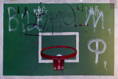 basketball hoop and a backboard Royalty Free Stock Photos