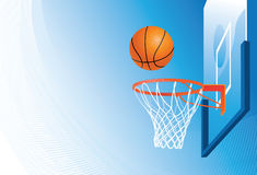 Basketball hoop and ball Royalty Free Stock Image