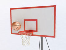 Basketball Hoop and Ball. 3D Illustration of basketball hoop and ball Stock Photography