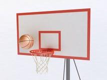 Basketball Hoop and Ball Stock Photography