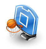 Basketball Hoop and Ball Royalty Free Stock Photography