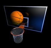 Basketball hoop and ball Royalty Free Stock Photo