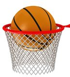 Basketball hoop and ball Stock Photo