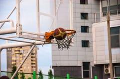 A basketball hoop Stock Photo