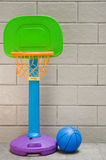 Basketball hoop and ball Stock Photos