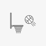 Basketball hoop with ball vector icon vector illustration