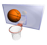 Basketball hoop and basketball ball Royalty Free Stock Photos