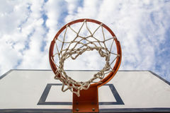 Basketball hoop from below Stock Photography