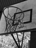 Basketball hoop in black and white. Picture stock images