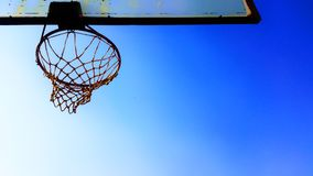 Basketball, Hoop, Blue Stock Images