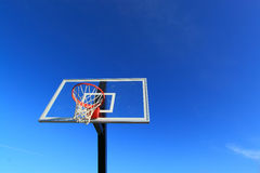 Basketball Hoop Blue Sky Stock Photo