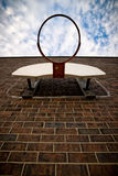 Basketball Hoop on Brick Wall Stock Photos