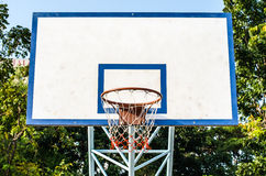 Basketball hoop and a cage Royalty Free Stock Image