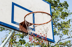 Basketball hoop and a cage Royalty Free Stock Photos