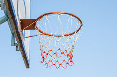 Basketball hoop and a cage Royalty Free Stock Photo