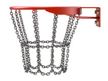 Basketball hoop with chains Royalty Free Stock Image