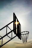 Basketball hoop. And  clouds in the sky Stock Images