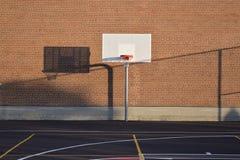 Basketball Hoop on Court stock photo