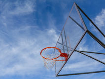 Basketball hoop glass Stock Photos