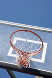 Basketball Hoop At Gym Stock Photo