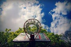 Basketball Hoop in Hamburg, Germany Royalty Free Stock Photos