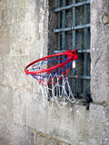 Basketball hoop. Hanging from a window Stock Images