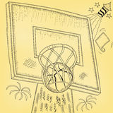 Basketball hoop hit Royalty Free Stock Photos