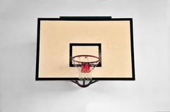 Basketball hoop. Indoor basketball hoop backboard and rim Royalty Free Stock Photo