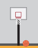 Basketball Hoop Inside Royalty Free Stock Image