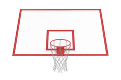 Basketball hoop isolated Stock Images