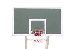 Basketball hoop isolated on white. Stock Photos