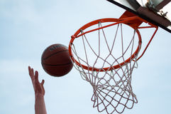 Basketball Hoop Jump Stock Images