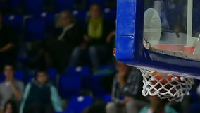 Basketball Hoop during the match stock footage