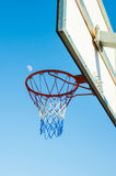 Basketball hoop and the moon Stock Photography