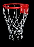 Basketball hoop and net Stock Images