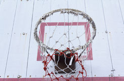Basketball hoop net Royalty Free Stock Images