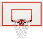 Basketball hoop with net vector illustration