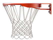 Basketball hoop and net. Isolated on white background - 3D illustration Stock Photos