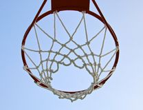 Basketball hoop with net Stock Photos