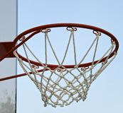 Basketball hoop with net Stock Images