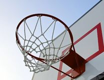 Basketball hoop with net Royalty Free Stock Photography
