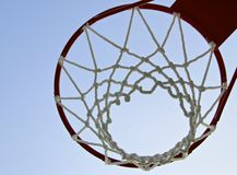Basketball hoop with net Royalty Free Stock Image