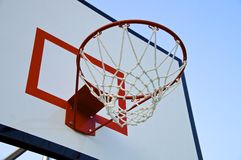 Basketball hoop with net Royalty Free Stock Photos