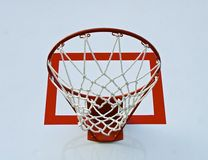 Basketball hoop with net Stock Photography