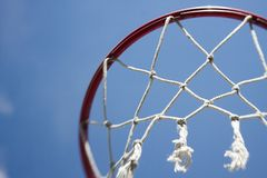 Basketball Hoop net sports background Royalty Free Stock Photo